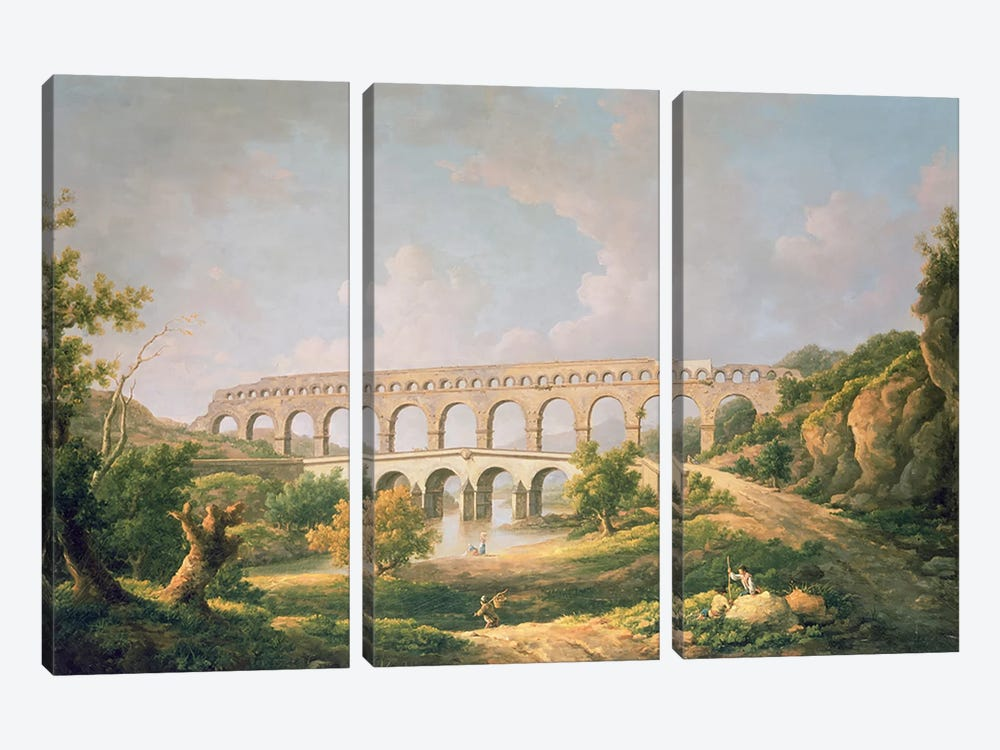The Pont du Gard, Nimes by William Marlow 3-piece Canvas Art