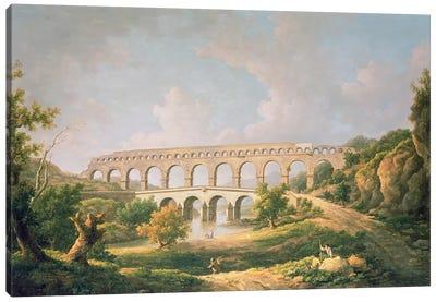The Pont du Gard, Nimes Canvas Art Print