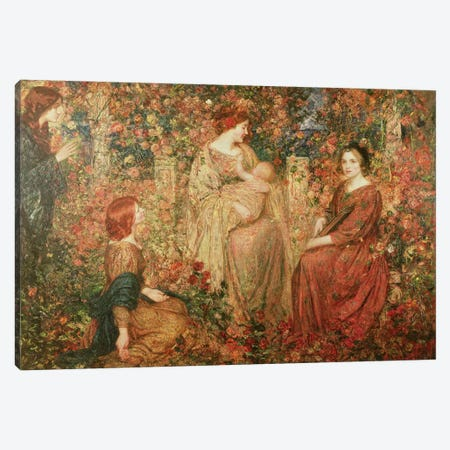 The Child Canvas Print #BMN390} by Thomas Edwin Mostyn Canvas Artwork