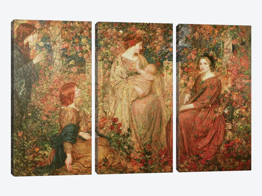 The Child by Thomas Edwin Mostyn 3-piece Canvas Art