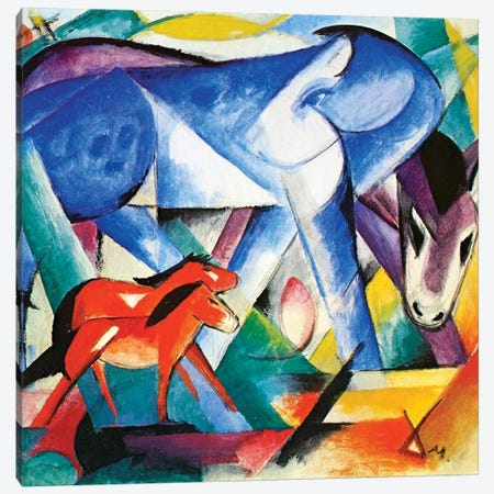 The First Animals, 1913  Canvas Print #BMN3915} by Franz Marc Canvas Artwork