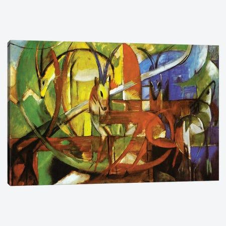 Gazelles, 1913  Canvas Print #BMN3916} by Franz Marc Canvas Wall Art
