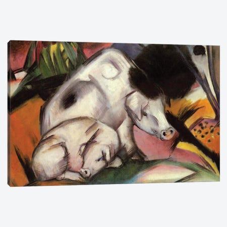 Pigs, 1912  Canvas Print #BMN3917} by Franz Marc Canvas Artwork