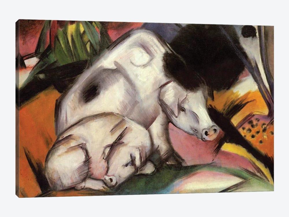 Pigs, 1912  by Franz Marc 1-piece Canvas Art Print