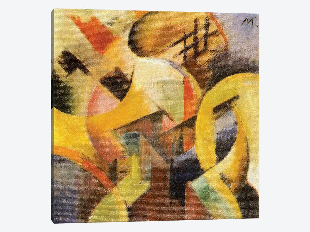 Small Composition I, 1913  by Franz Marc 1-piece Canvas Wall Art
