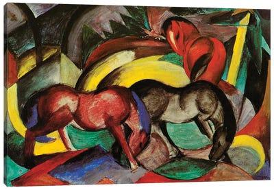 Three Horses, 1912  Canvas Art Print