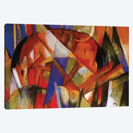 Fabulous Beast II, 1913  Canvas Print #BMN3923} by Franz Marc Canvas Art
