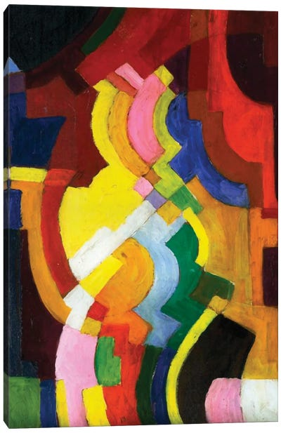 Coloured Forms III, 1913  Canvas Art Print