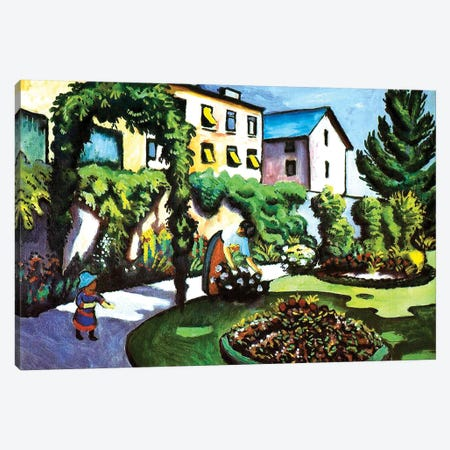 The Artist's Garden in Bonn, Germany, 1911  Canvas Print #BMN3927} by August Macke Canvas Art Print