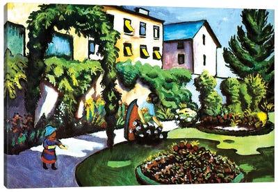 The Artist's Garden in Bonn, Germany, 1911  Canvas Art Print