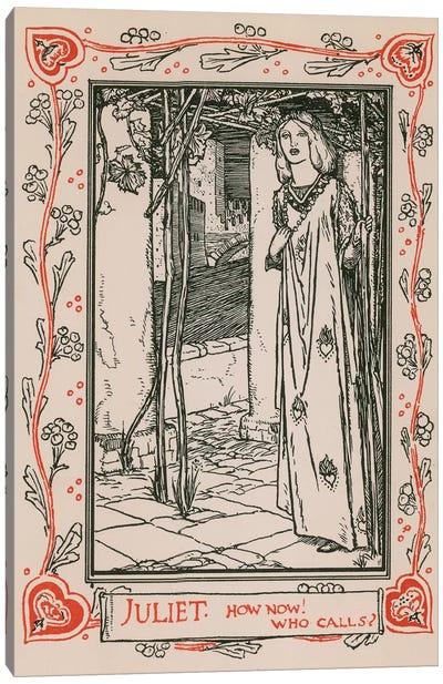 Juliet, Romeo and Juliet Canvas Art Print