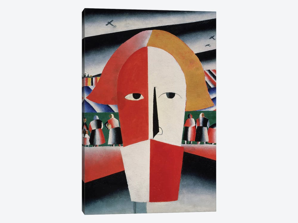 Head of a Peasant, c.1930  by Kazimir Severinovich Malevich 1-piece Canvas Print