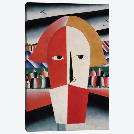 Head of a Peasant, c.1930  Canvas Print #BMN3953} by Kazimir Severinovich Malevich Canvas Art Print