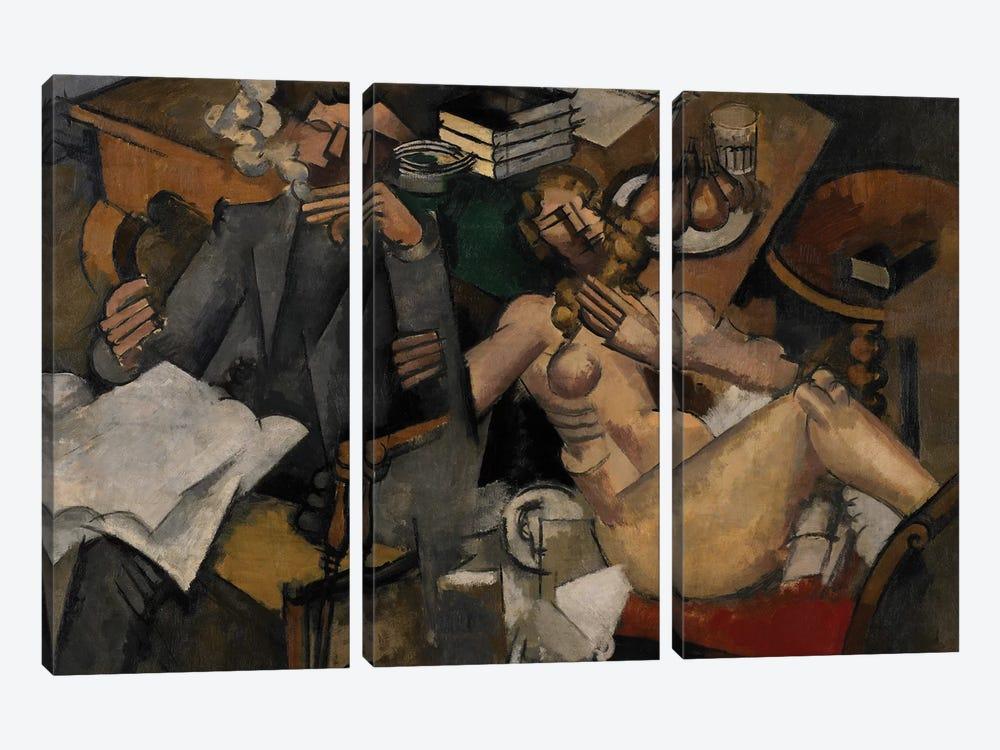 Married Life, 1912  by Roger de la Fresnaye 3-piece Canvas Art Print