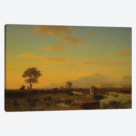 Ruins of Paestum, 1858  Canvas Print #BMN3956} by Albert Bierstadt Canvas Art