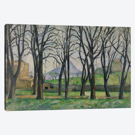 Chestnut Trees at Jas de Bouffan, c.1885-86  Canvas Print #BMN3957} by Paul Cezanne Canvas Wall Art