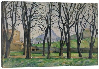Chestnut Trees at Jas de Bouffan, c.1885-86  Canvas Art Print