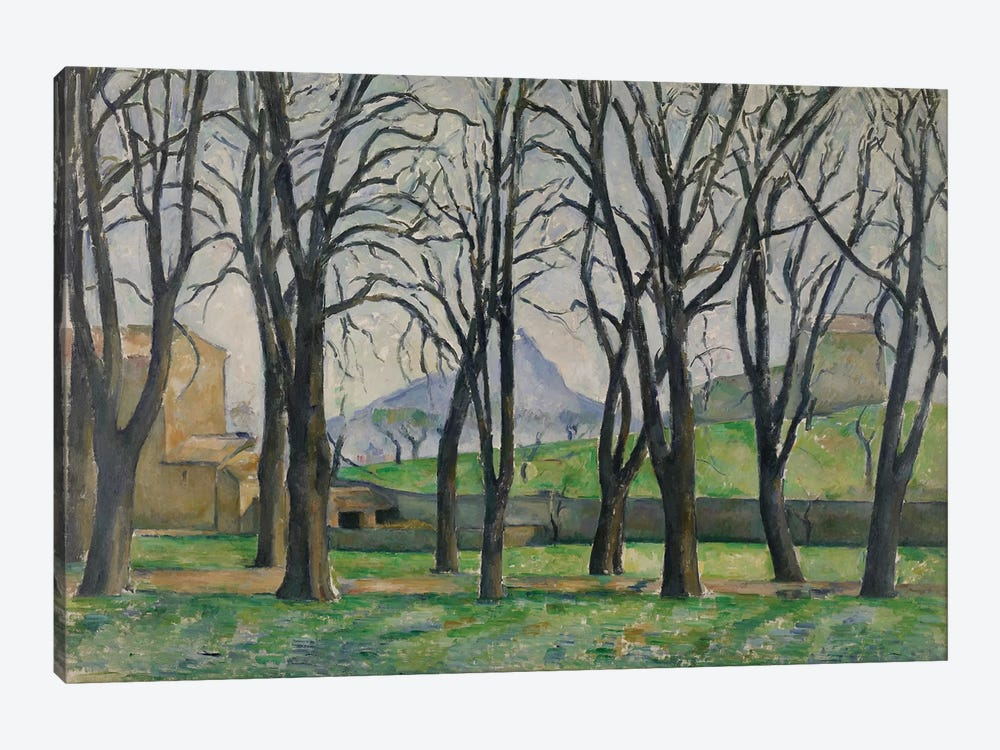 Chestnut Trees at Jas de Bouffan, c.1885-86  by Paul Cezanne 1-piece Art Print