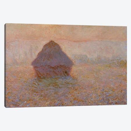 Grainstack, Sun in the Mist, 1891  Canvas Print #BMN3958} by Claude Monet Canvas Art Print