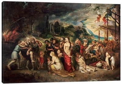 Aeneas prepares to lead the Trojans into exile, c.1602  Canvas Art Print