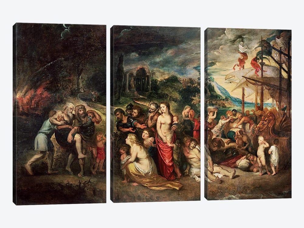 Aeneas prepares to lead the Trojans into exile, c.1602  by Peter Paul Rubens 3-piece Canvas Art Print