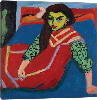 Seated Girl  Canvas Art Print