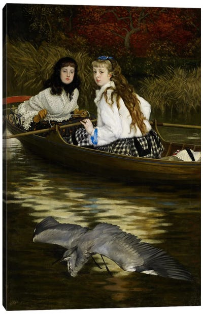 On the Thames, a Heron, c.1871-72  Canvas Art Print