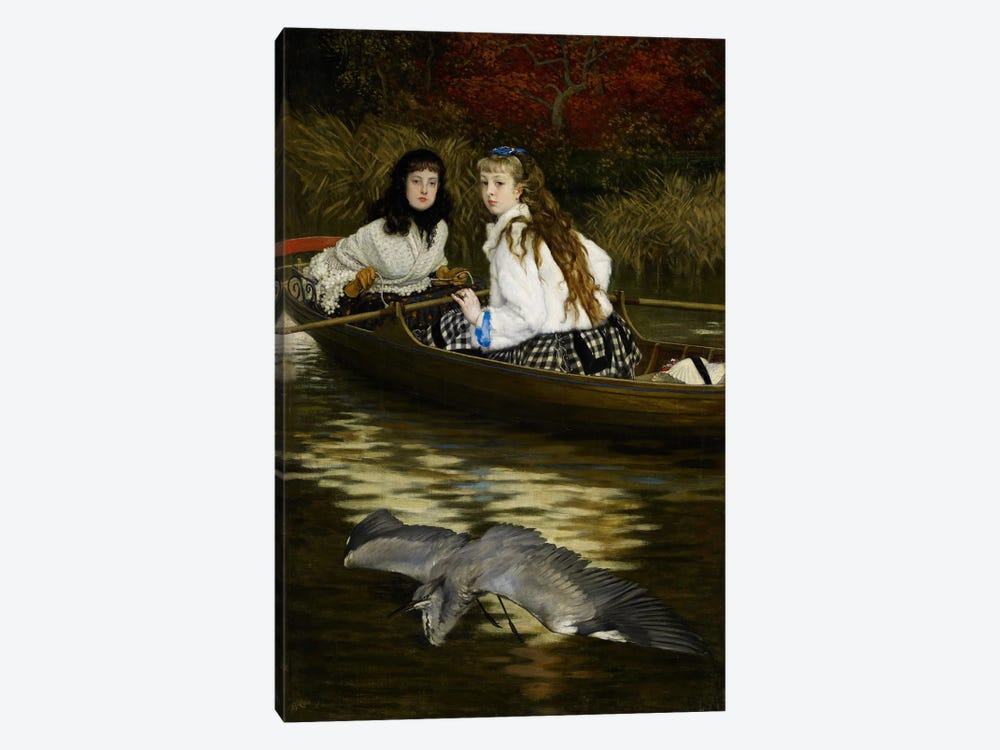 On the Thames, a Heron, c.1871-72  by James Jacques Joseph Tissot 1-piece Canvas Print