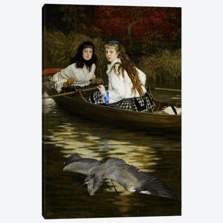 On the Thames, a Heron, c.1871-72  Canvas Print #BMN3962} by James Jacques Joseph Tissot Canvas Art