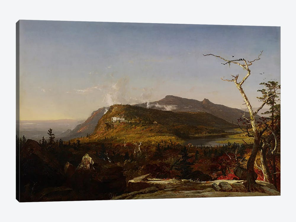 Catskill Mountain House, 1855 by Jasper Francis Cropsey 1-piece Canvas Wall Art