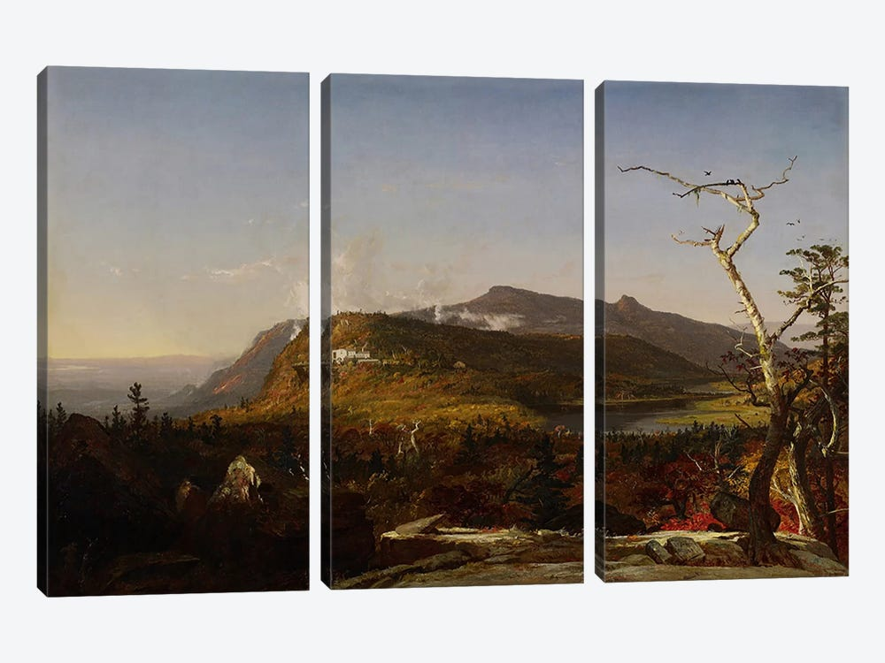 Catskill Mountain House, 1855 by Jasper Francis Cropsey 3-piece Canvas Art