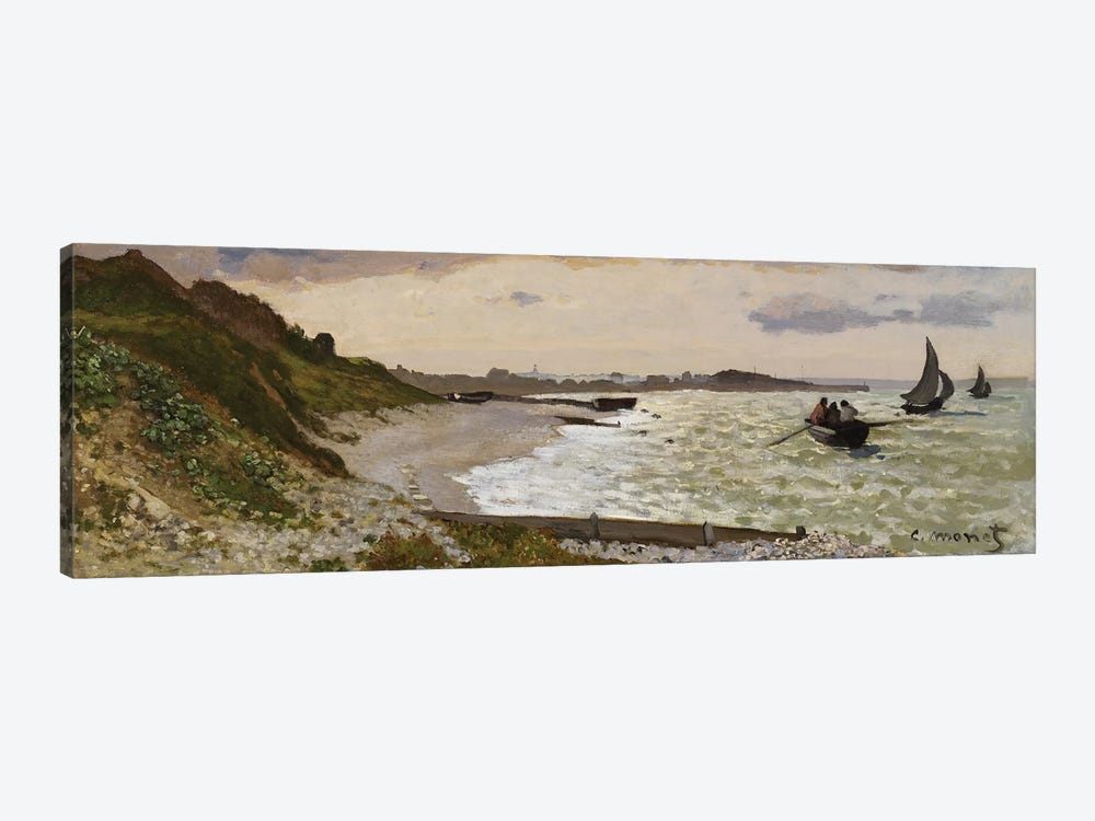 The Seashore at Sainte-Adresse, 1864  by Claude Monet 1-piece Canvas Art Print