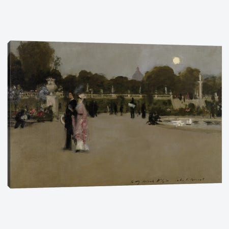 Luxembourg Gardens at Twilight, 1879  Canvas Print #BMN3967} by John Singer Sargent Canvas Print