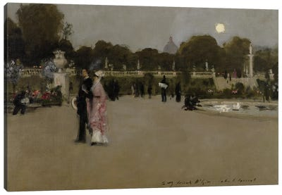 Luxembourg Gardens at Twilight, 1879  Canvas Art Print