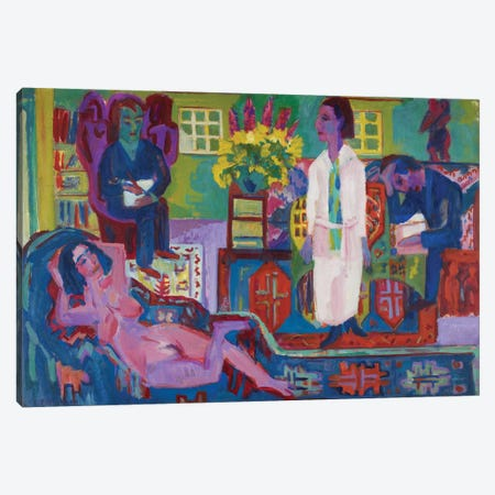 Modern Bohemia, 1924  Canvas Print #BMN3968} by Ernst Ludwig Kirchner Canvas Artwork