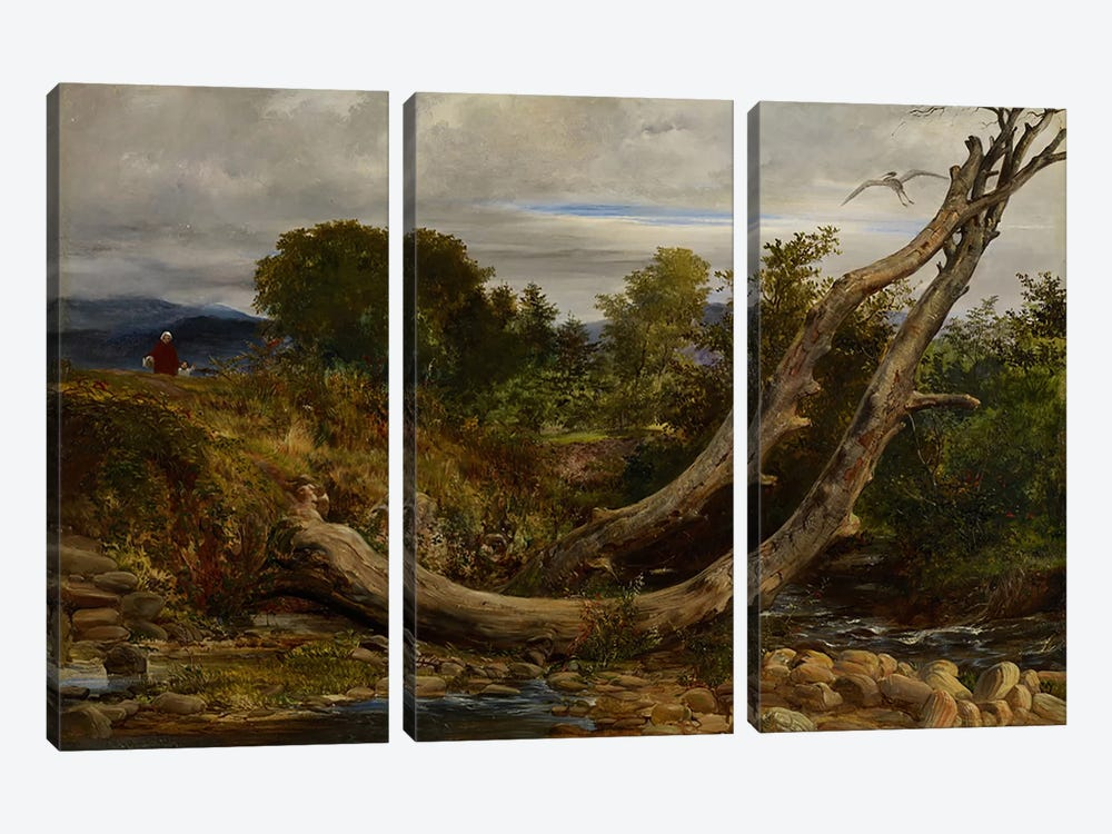 The Heron Disturbed, c.1850 by Richard Redgrave 3-piece Canvas Artwork