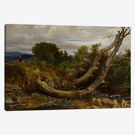The Heron Disturbed, c.1850  Canvas Print #BMN3969} by Richard Redgrave Canvas Artwork