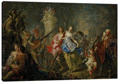 The Pleasures of the Seasons: Spring, c.1730  Canvas Art Print