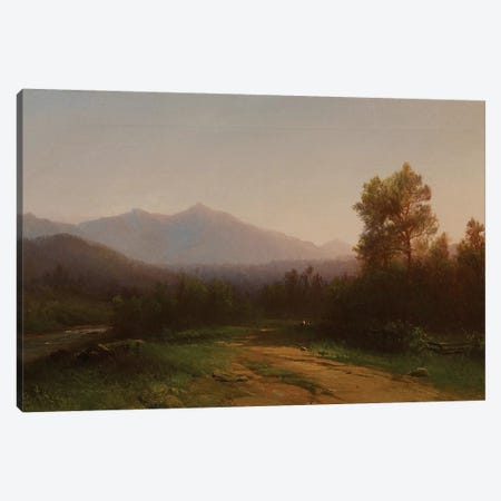 Hudson River Landscape, c.1860-5  Canvas Print #BMN3973} by Homer Dodge Martin Canvas Art Print