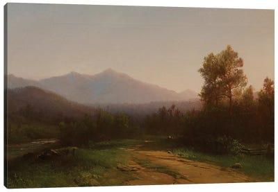 Hudson River Landscape, c.1860-5  Canvas Art Print
