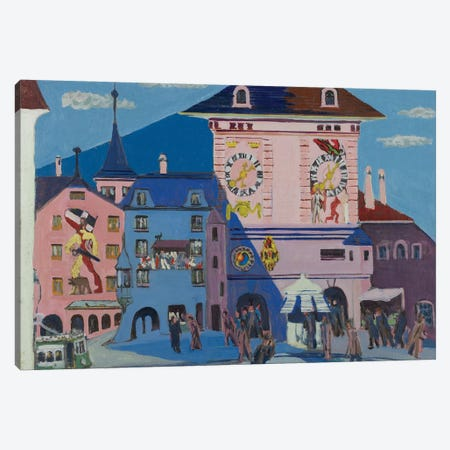 Bern with Belltower, 1935  Canvas Print #BMN3976} by Ernst Ludwig Kirchner Canvas Wall Art
