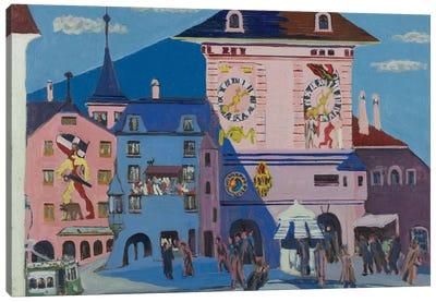Bern with Belltower, 1935  Canvas Art Print