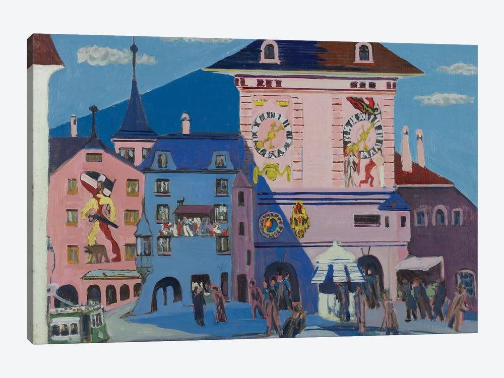 Bern with Belltower, 1935  by Ernst Ludwig Kirchner 1-piece Canvas Artwork