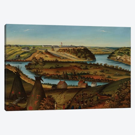View of Fort Snelling, c.1850  Canvas Print #BMN3979} by Edward K. Thomas Canvas Art Print