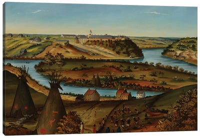View of Fort Snelling, c.1850  Canvas Art Print