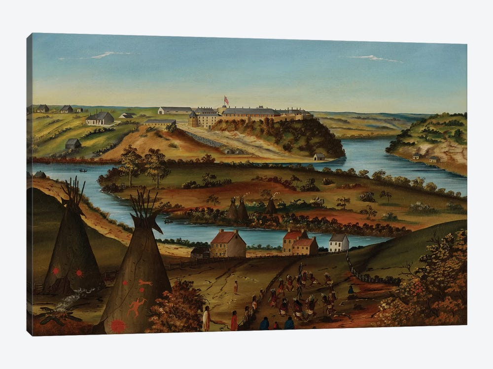 View of Fort Snelling, c.1850  by Edward K. Thomas 1-piece Canvas Print