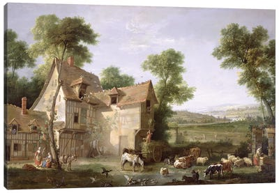 The Farm, 1750  Canvas Art Print