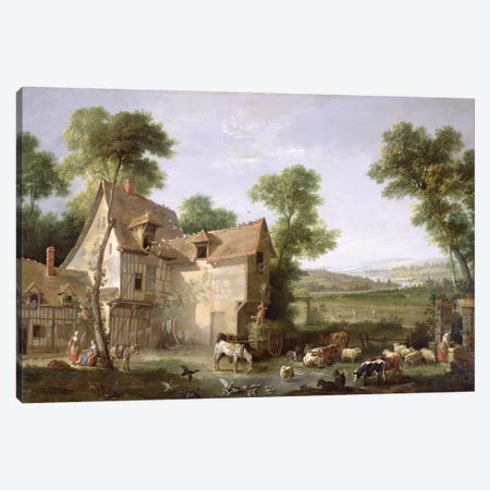 The Farm, 1750  Canvas Print #BMN397} by Jean-Baptiste Oudry Canvas Print