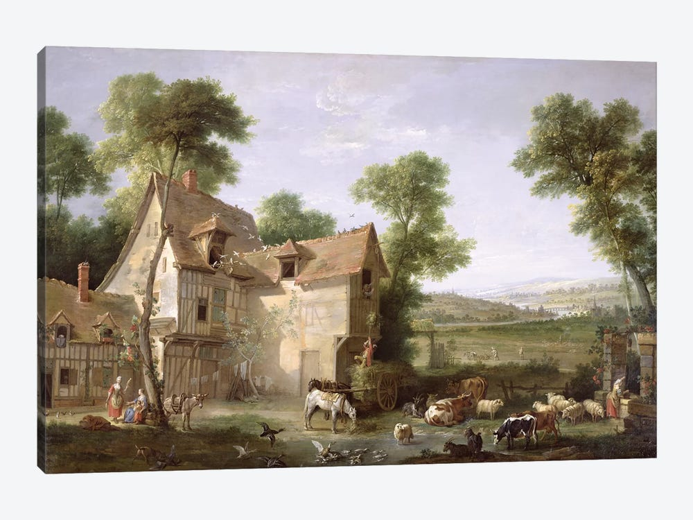 The Farm, 1750  by Jean-Baptiste Oudry 1-piece Art Print