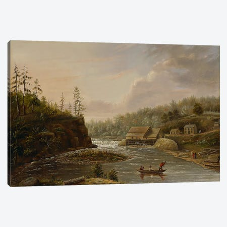 Cheever's Mill on the St. Croix River, 1847  Canvas Print #BMN3980} by Henry Lewis Canvas Art